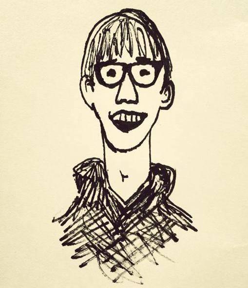 ノミさんが描いてくれた似顔絵